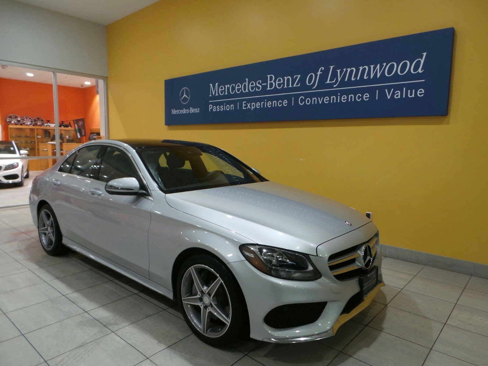 Pre owned 2016 mercedes benz c class c300 sport 4dr car in for Mercedes benz c class pre owned